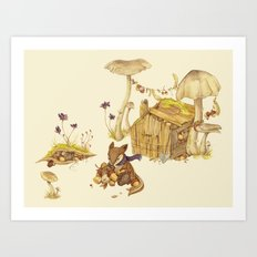 Harvey the Greedy Chipmunk Art Print