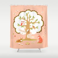 Les Amis - Dawn Colorway Shower Curtain