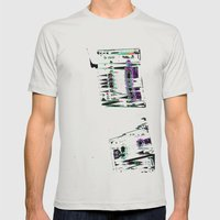 Cassette #3 Mens Fitted Tee Silver SMALL