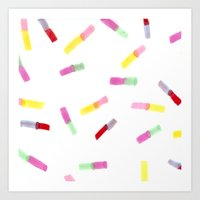 Happy Capsules Art Print