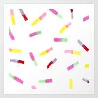 Happy Capsules Art Print