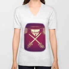 V for Vendetta4 Unisex V-Neck