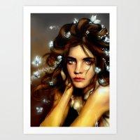 Natalia´s Hair Butterfl… Art Print