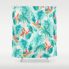 Tropical Paradise Pale Peach Shower Curtain