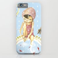 iPhone & iPod Case featuring FISH IN UMBRELLA - triptych image 1 by Sonia Poli