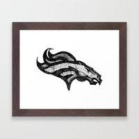 Bronco Framed Art Print