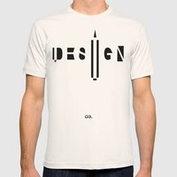 Design. Mens Fitted Tee Natural SMALL