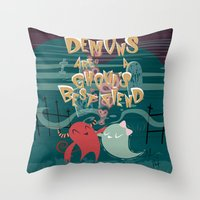 Demons are a Ghouls Best Fiend Throw Pillow