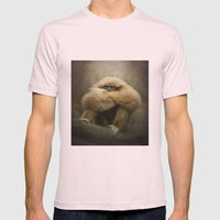 Study of a Gibbon - The Thinker Mens Fitted Tee Light Pink SMALL