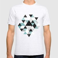 Graphic 202 Turquoise Mens Fitted Tee Ash Grey SMALL
