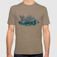 Tale Of A Whale Mens Fitted Tee Tri-Coffee SMALL