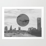 London Moon Art Print