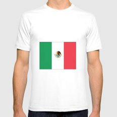 mexican's flag SMALL Mens Fitted Tee White