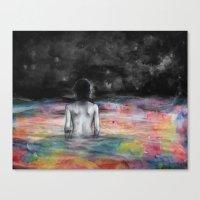 Verso l'infinito Canvas Print