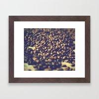 Vintage coffee Framed Art Print