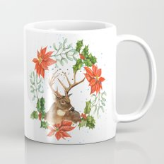 Hostess Gift, Black Friday, Christmas art, reindeer print Mug