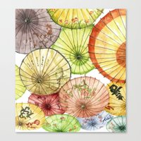 Paper Umbrellas Canvas Print