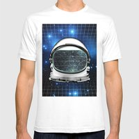 Astro Static Mens Fitted Tee White SMALL
