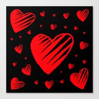 Love is Sketchy Canvas Print