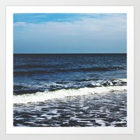 Kissing The Shoreline Art Print