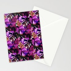 Palm Leaf Purple Pink Stationery Cards