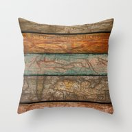 Throw Pillow featuring Mapas by Diego Tirigall