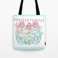 Babushka Christmas Tote Bag