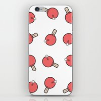 Table Tennis Paddles iPhone & iPod Skin