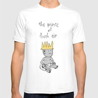 The Prince Of Fresh Air Mens Fitted Tee White SMALL