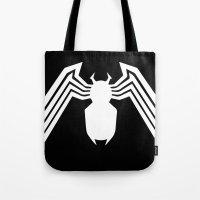 Symbiote Spider man Tote Bag