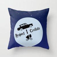 Respect Cyclists Throw Pillow