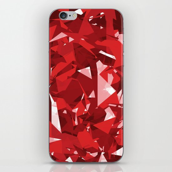 Abstract Red iPhone & iPod Skin
