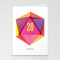 Rolling D20's Like A Big… Stationery Cards