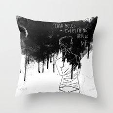 Cash Rules Throw Pillow