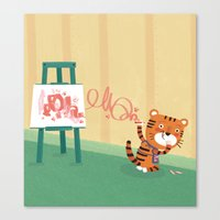 Oops!! Canvas Print