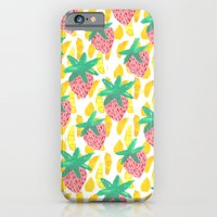 Pink Strawberries iPhone 6 Slim Case