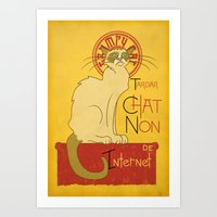 Chat Non. Art Print