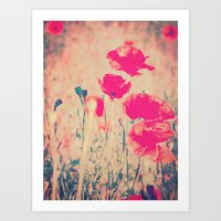 Red Poppies In The Sun L… Art Print