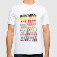 Triangle Pattern Mens Fitted Tee Ash Grey SMALL