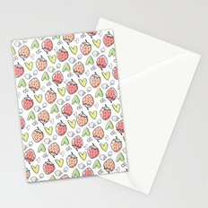 Pattern: Strawberries & Hearts Stationery Cards
