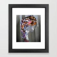 Braided Hair Framed Art Print