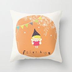 Fairy Hugs Throw Pillow