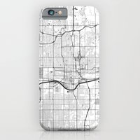 iPhone Cases featuring Oklahoma City G by City Map Art