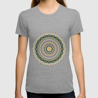 Boho Patchwork-Mineral Colors Womens Fitted Tee Tri-Grey SMALL