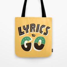 Lyrics to Go Tote Bag