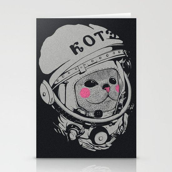 Spaceman cat Stationery Card
