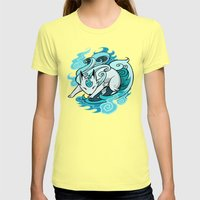 Ghostfire Fox Womens Fitted Tee Lemon SMALL