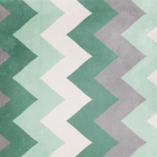 Wintergreen - Chevron Art Print