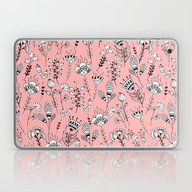Floral Pink Pattern Laptop & iPad Skin