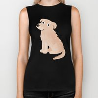 Golden Retriever - Cute Dog Series Biker Tank